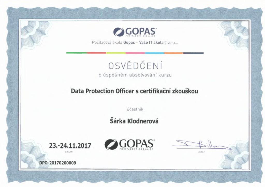 certifikat_gdpr_svitavy_klodnerova